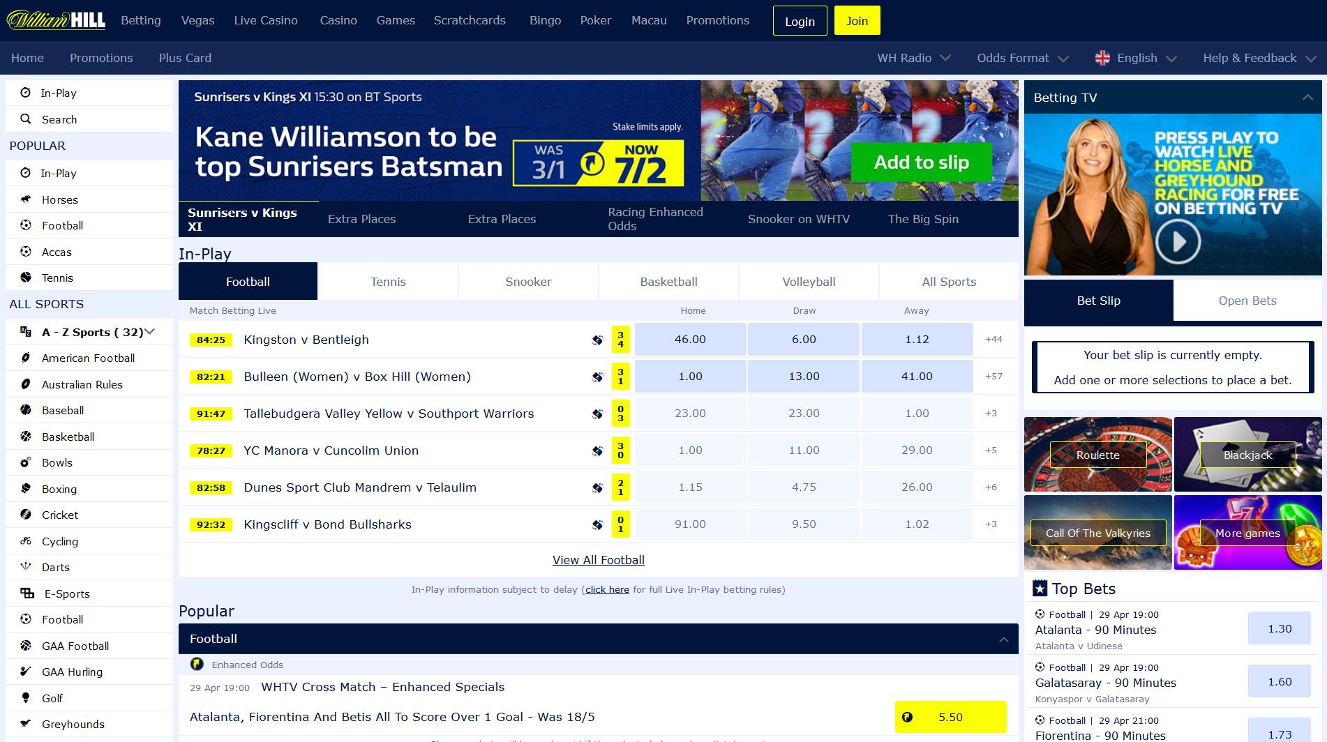 Williamhill score 30279