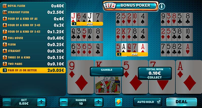 Bonus poker AIC 36005