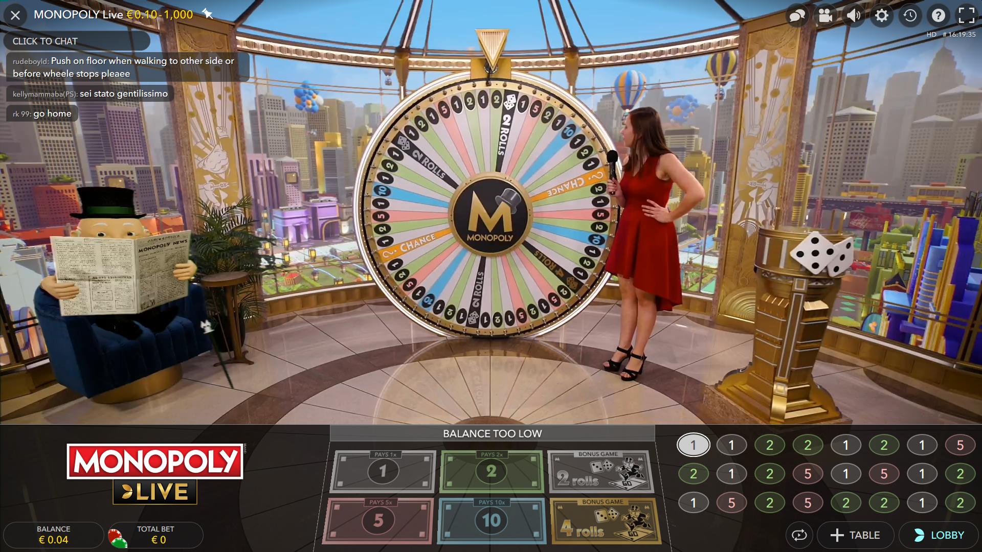 Multiwheel roulette monopoly casino 58779