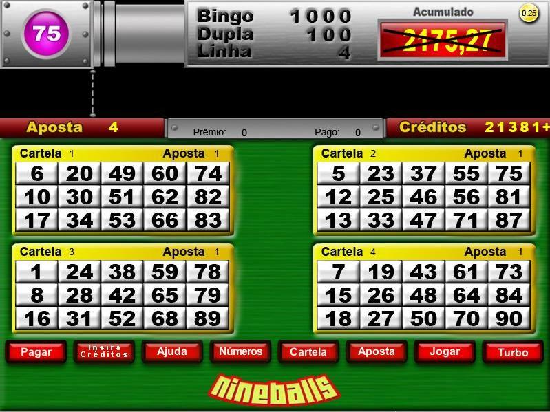 Nine balls Vegas jogos 59001