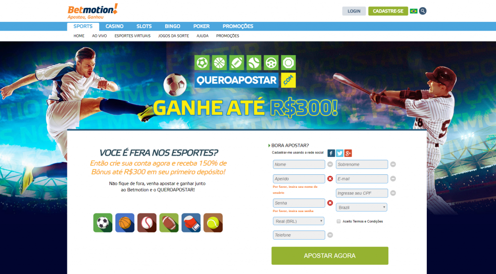 Betmotion website victorious 25068