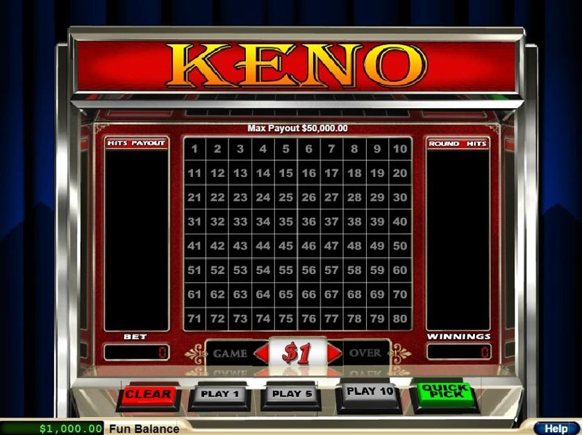 Cassinos online jackpot keno 67537