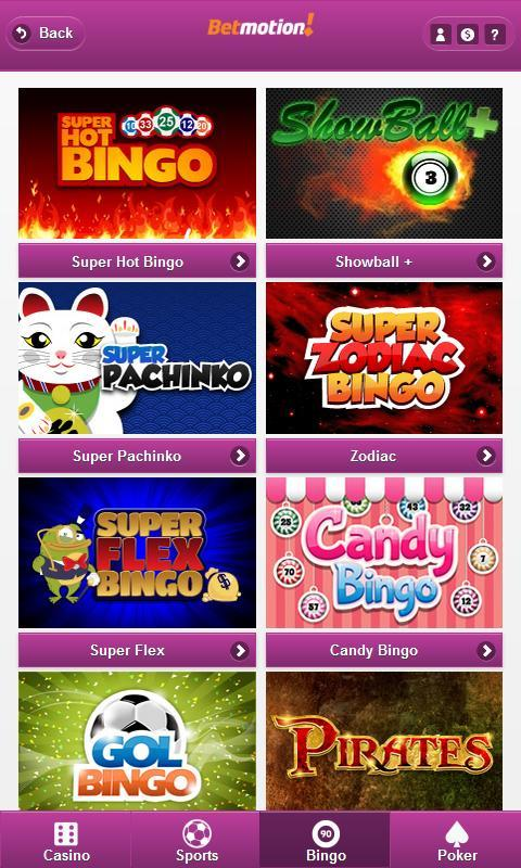 Bingo club betmotion 47858