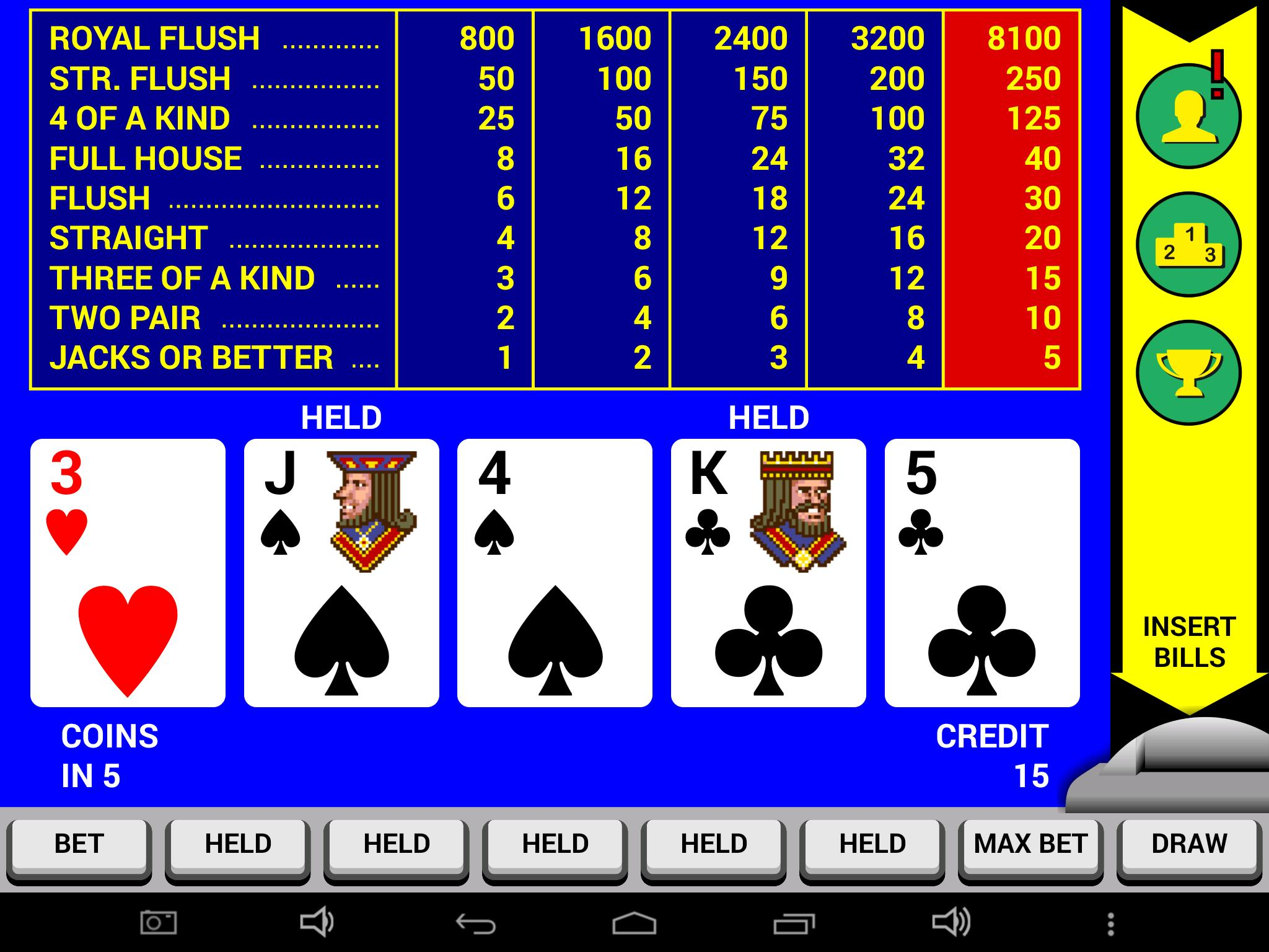 Classic video poker 22560
