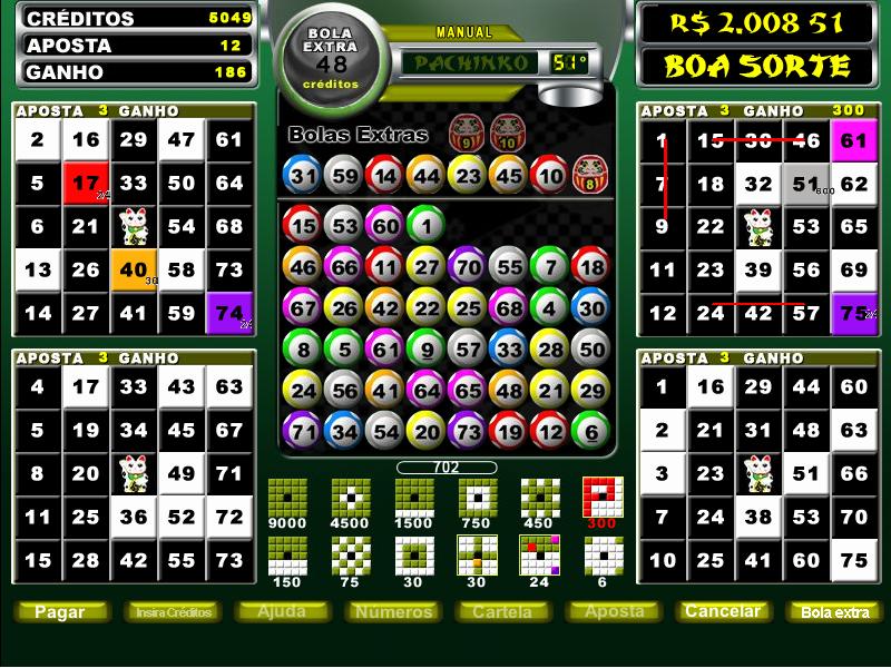 Pachinko vídeo bingo 64087