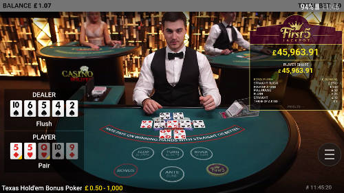 Roleta bonus poker evolution 40002