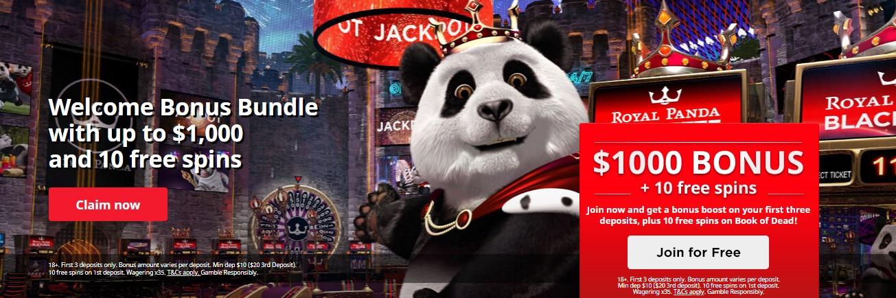 Royal Panda bitcoin cassino 54216